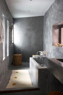 Ba os estilos ba os con cemento pulido - Revestimiento cemento pulido banos ...