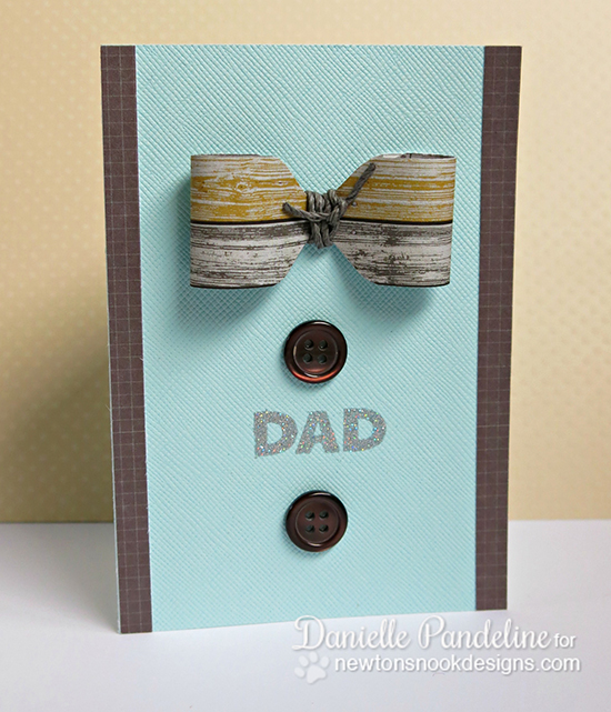 Bow Tie Card by Danielle Pandeline | Newton's Nook Designs