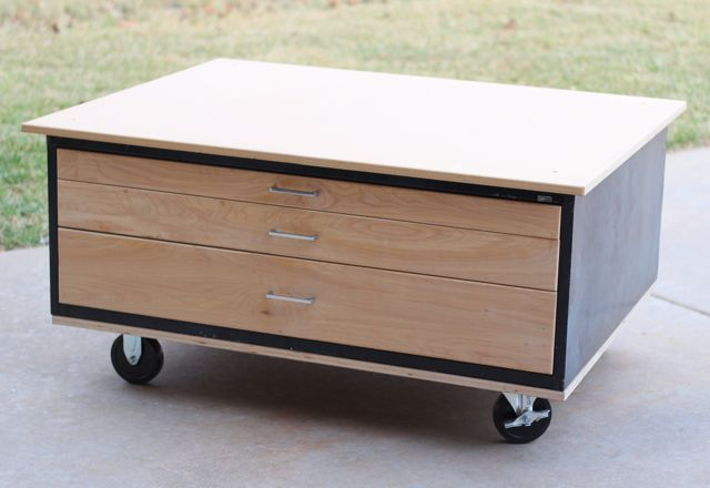 Last Fall, My Friend Gave Us An Old, Flat File Cabinet They Couldnu0027t Use.  Before Seeing It, I Had Grand Ideas Of Turning It Into A Cool Coffee Table  For Our ...