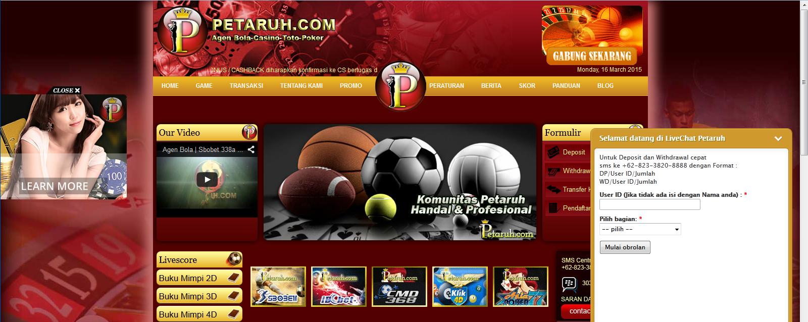 petaruh.com website agen sbobet online
