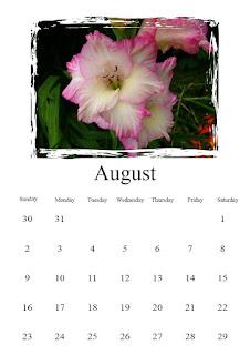 Freebie calendar August