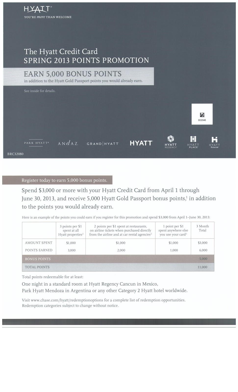 Check Your Mail: 5,000 Hyatt GoldPoint Offer