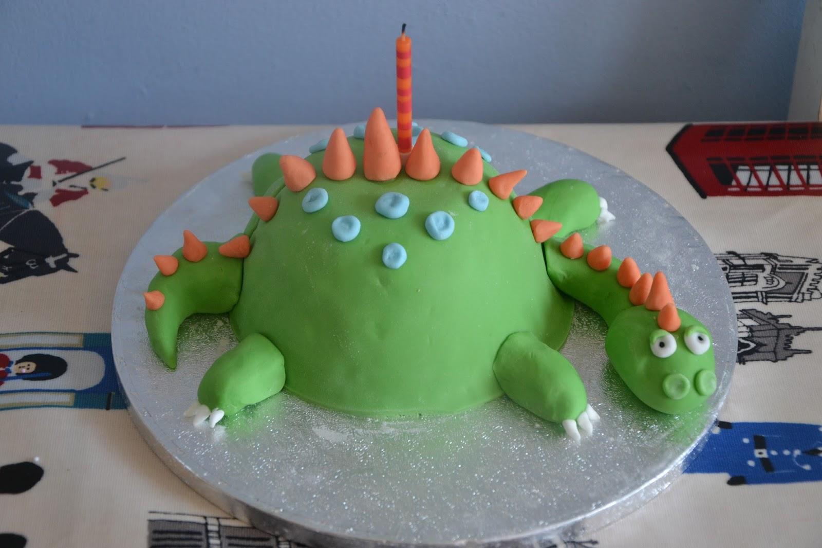 Tadpegs Dinosaur Birthday Cake