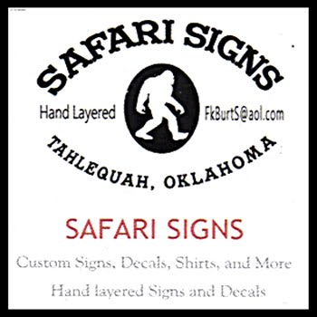 Safari Signs 123017