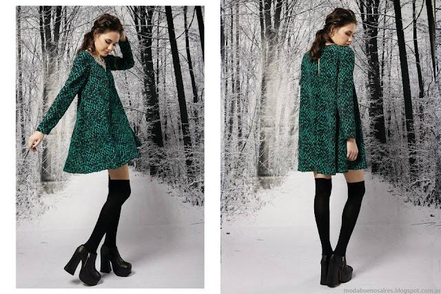 Vestidos de fiesta invierno 2015 Penny Love. Vestidos cortos 2015 con mangas largas.