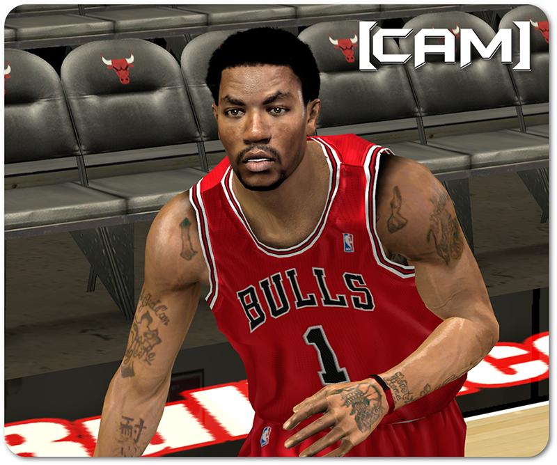 NBA 2K14 Derrick Rose Mini Afro Cyberface Mod