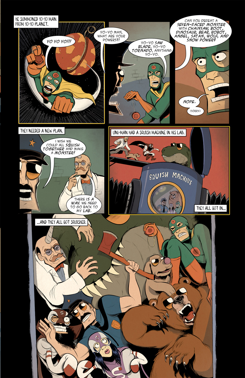Read online Axe Cop: Bad Guy Earth comic -  Issue #3 - 13
