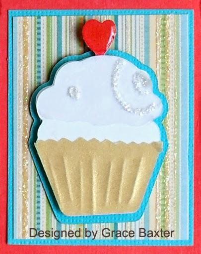 Exploding B-day card box, cupcake