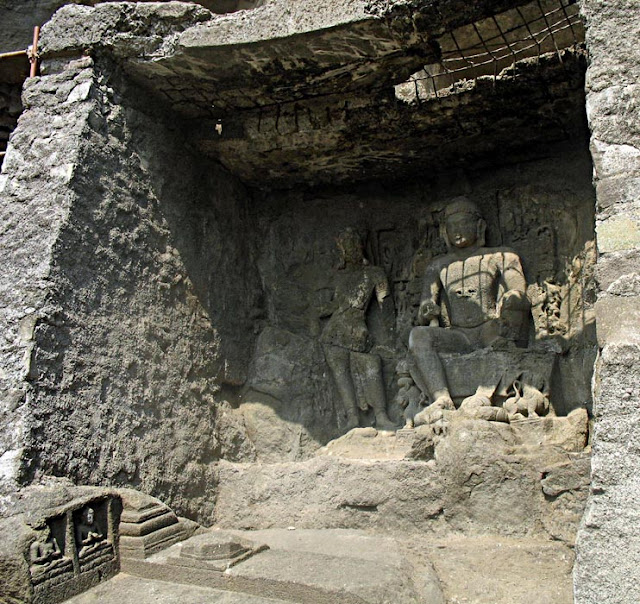Buddha sculptures at Aurangabad Caves