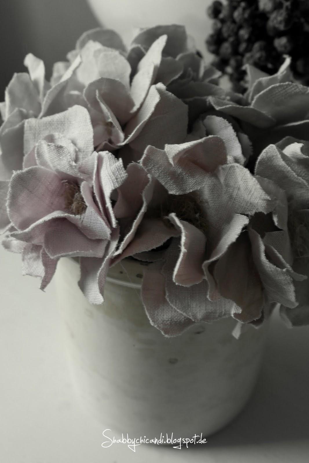 Vintage Stoff Blüten