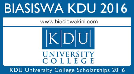 Biasiswa KDU Scholarships 2016