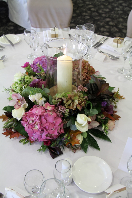 Fabulous autumn purple wedding at ribby hall for jo dave
