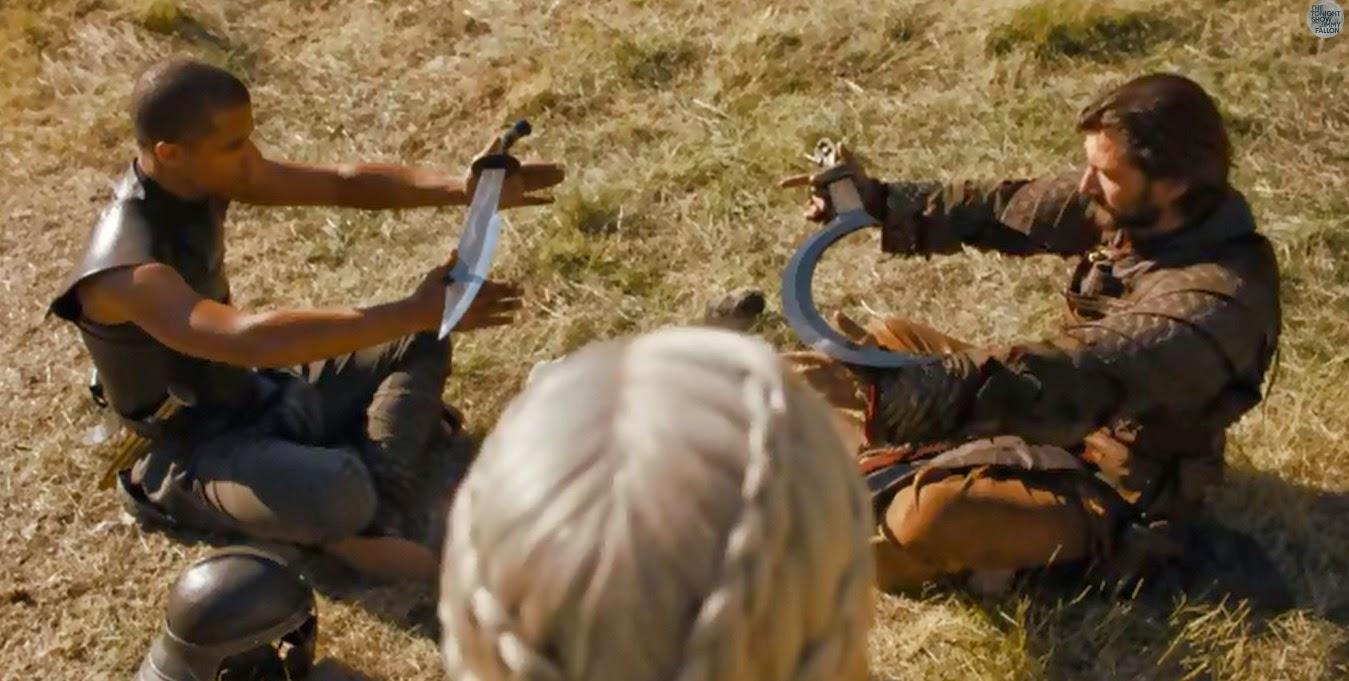 escena inédita cuarta temporada Juego de Tronos Daenerys, Daario y Gusano Gris - Juego de Tronos en los siete reinos