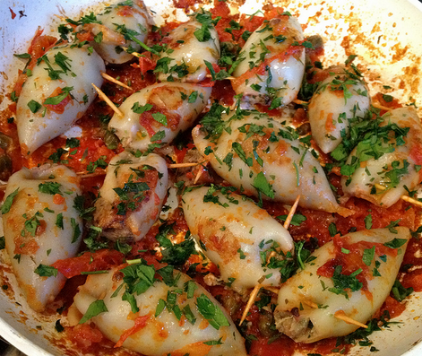 Italian foodie stuffed calamari and the feast of 7 fish for Seven fishes recipe
