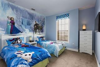 Desain Interior Rumah Minimalis untuk Kamar Anak Perempuan Bertema Frozen