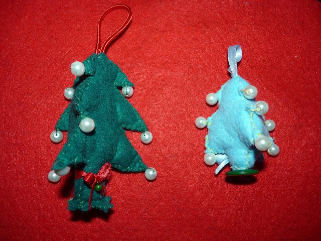 Árboles de Navidad en Fieltro