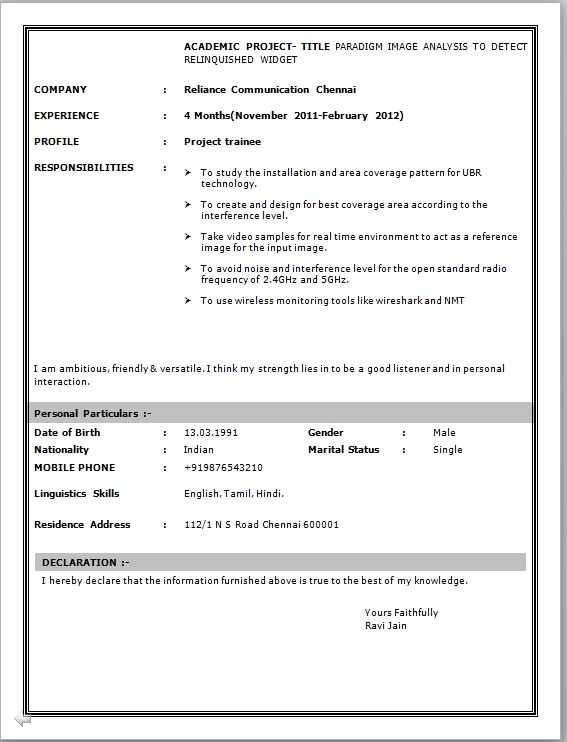 computer hardware networking resume format pdf resume template download word curriculum vitae free within resume samples - Resume Models In Word Format