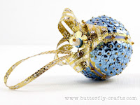 Handmade Blue Bauble Christmas Decoration