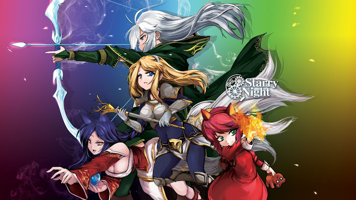ashe, lux, ahri and annie league of legends game girl champions