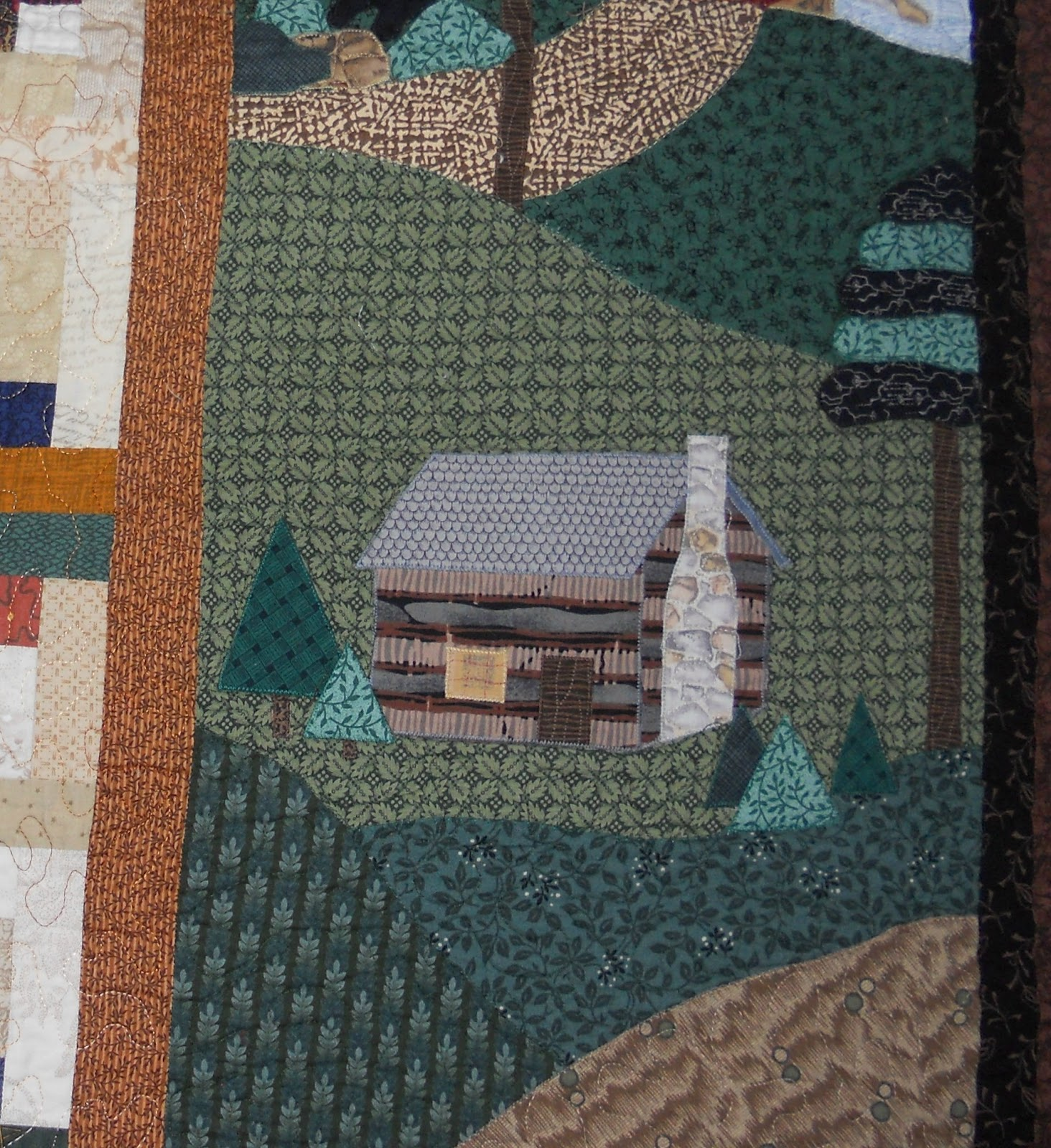 Very Impressive portraiture of Log Cabin Quilter: MY SPECIAL QUILT with #744B39 color and 1464x1600 pixels