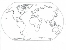 Australia Continent Coloring Page