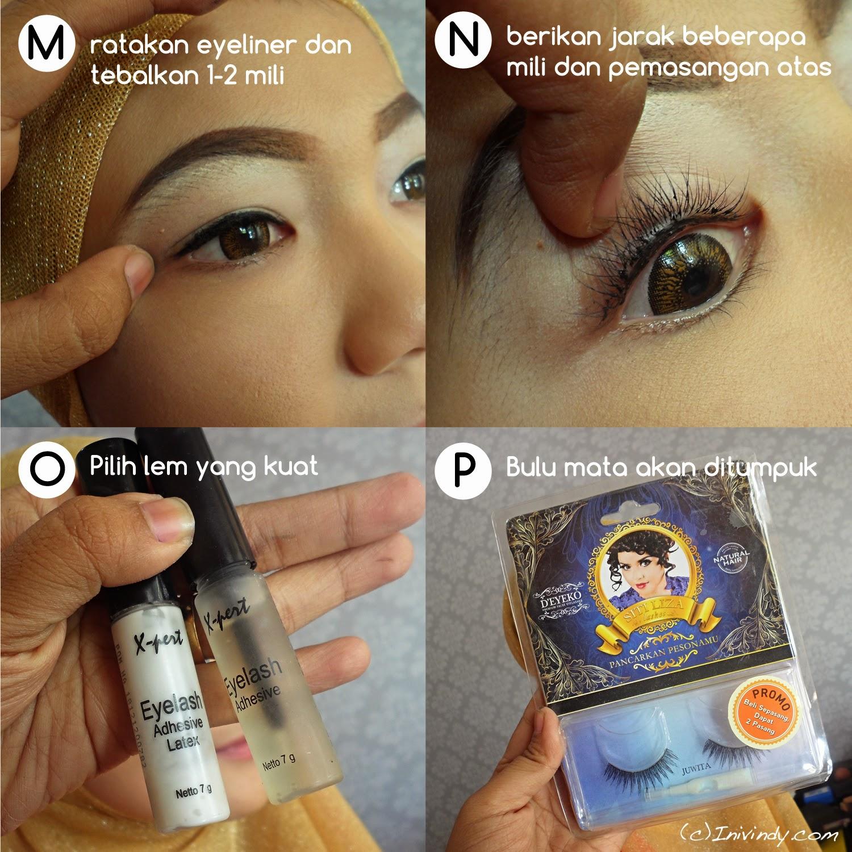Sekedar sharing tentang trik untuk menumpuk bulu mata berlapis ...