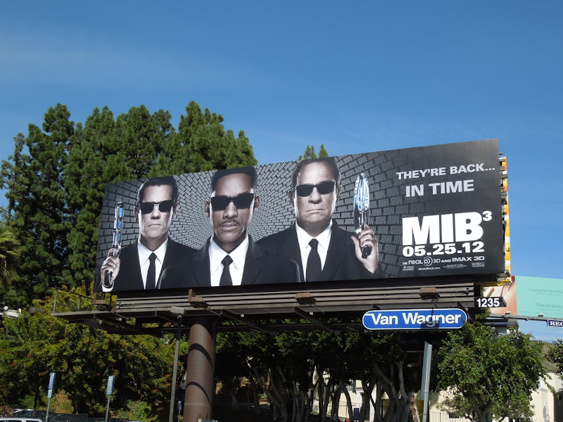 Men in Black 3 billboard