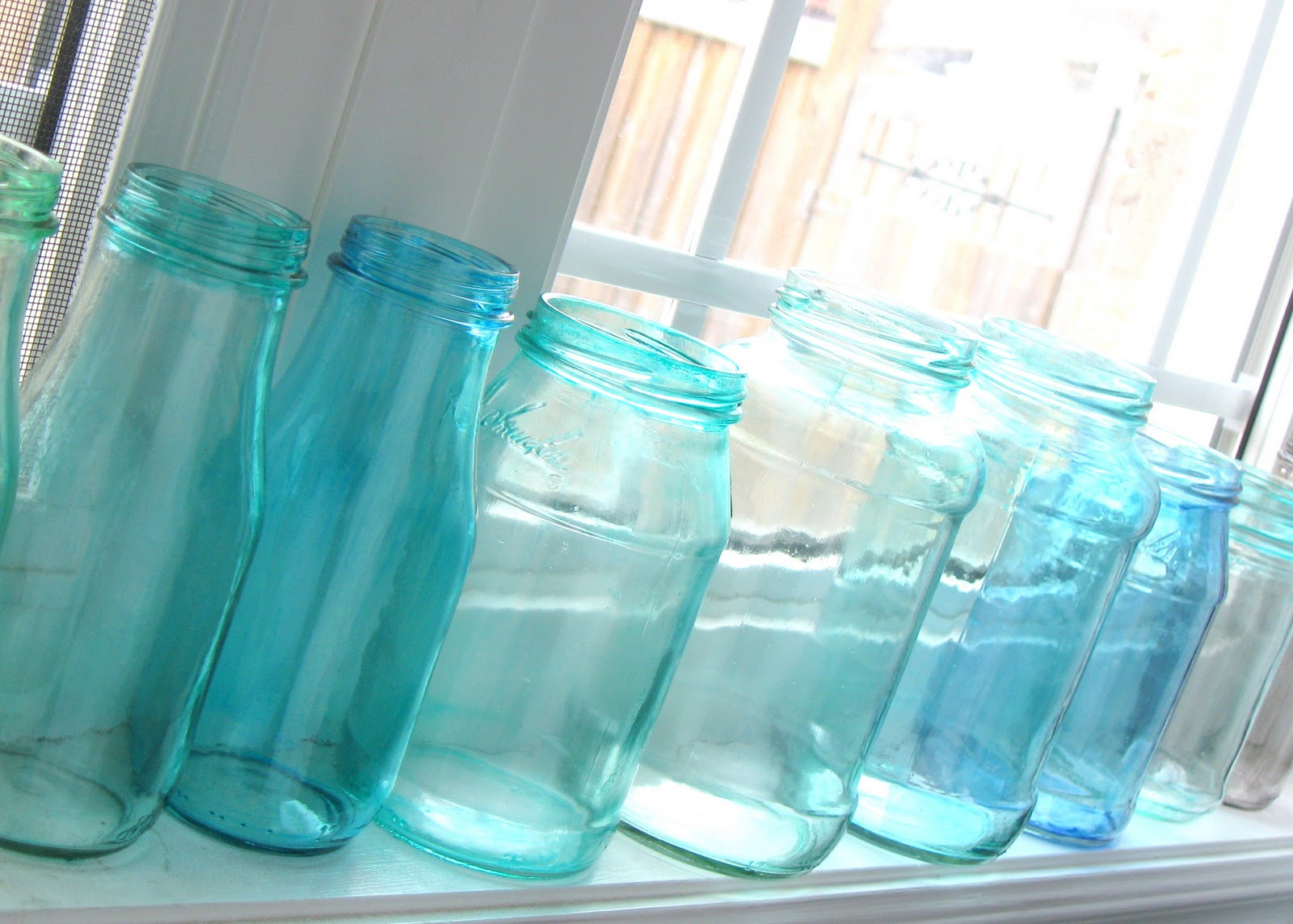 the simple craft diaries painted glass jars