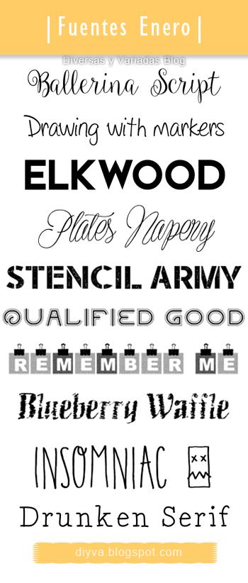 January Fonts