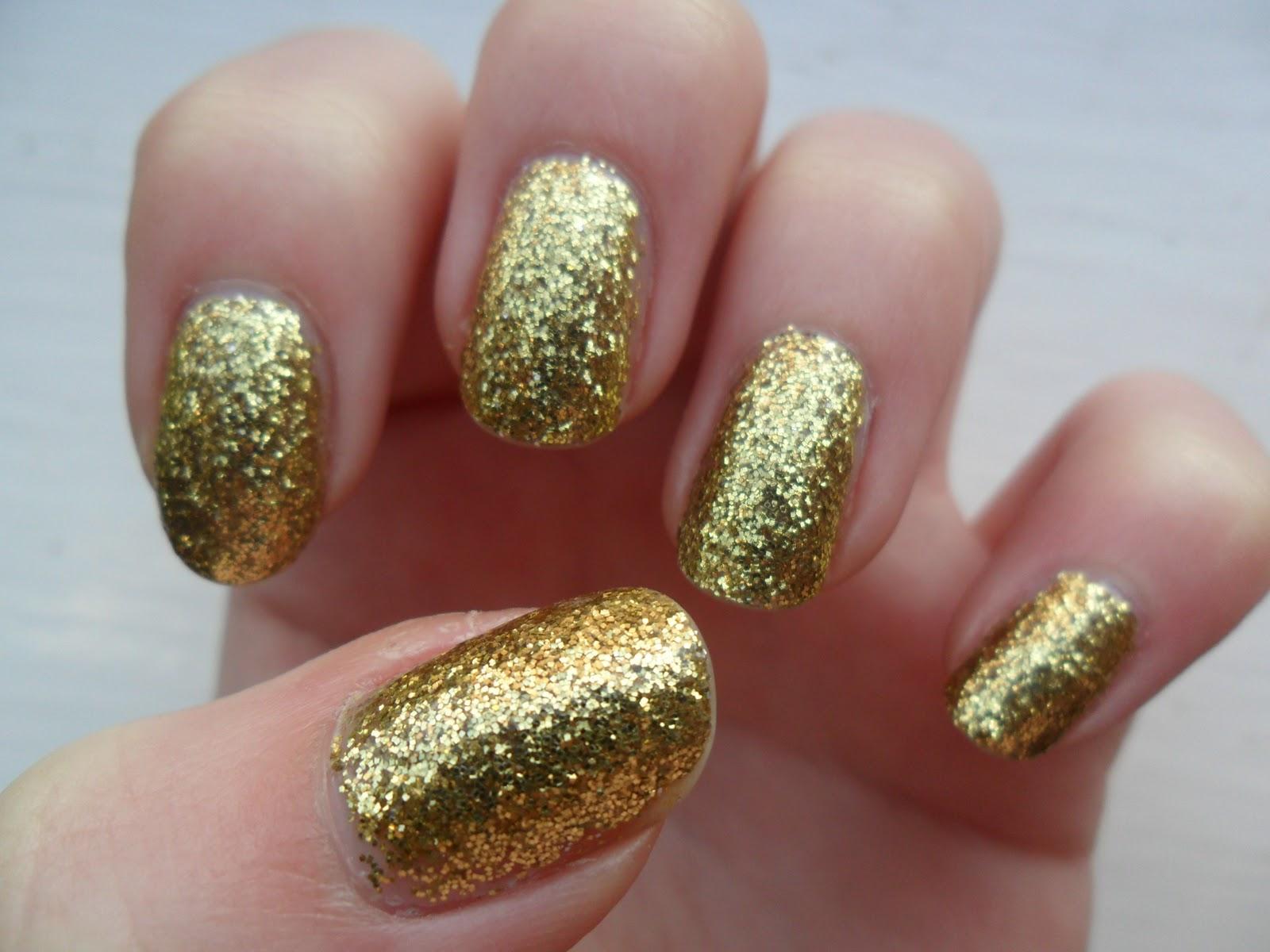 The Woollen Mitten: Gold Fiingar! aka W7 gold dazzle swatch