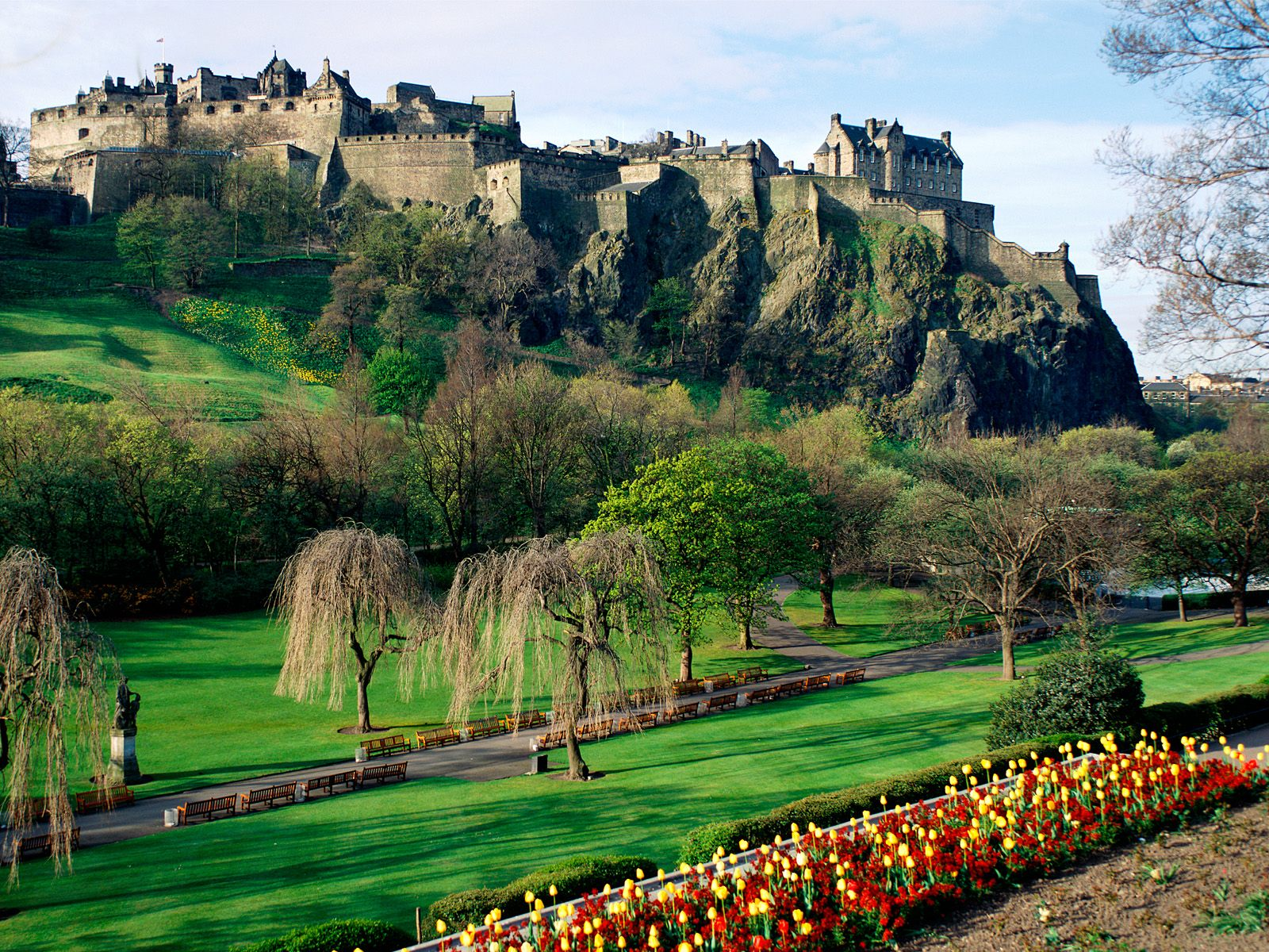 Edinburgh Castle ... hole right through the middle of it. One can almost imagine using it as ...