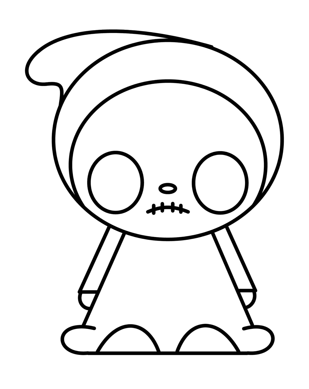 Cute n kawaii how to draw a emo kawaii i love the way this little emo kawaii turned out when coloring him i used a light steel blue for his face hands and feet i also added the gold cross as voltagebd Choice Image