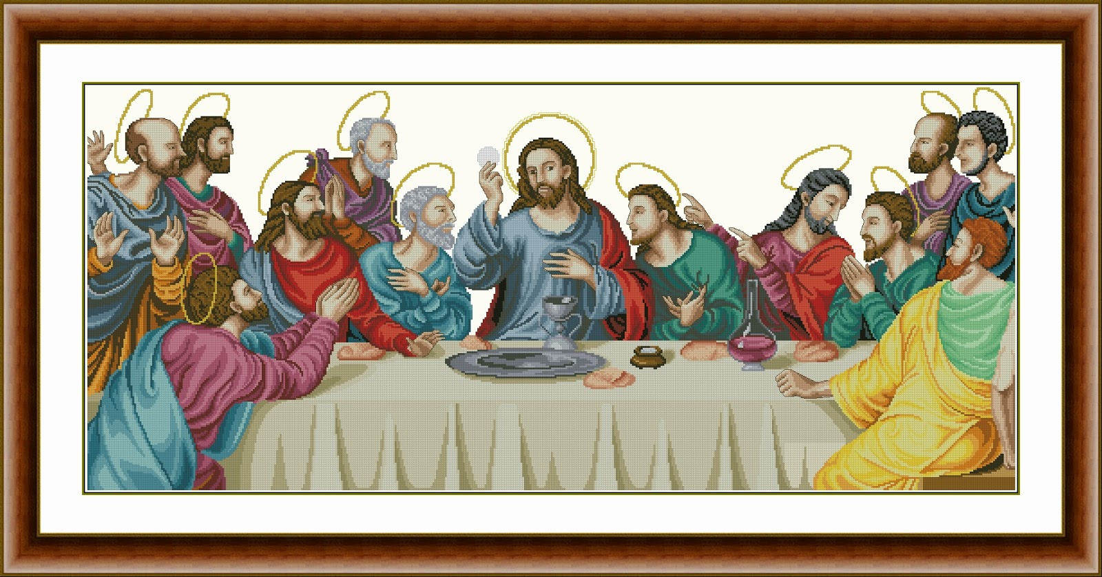 The Last Supper Cross Stitch based on Joan de Joanes Painting