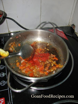 time to cook the masala