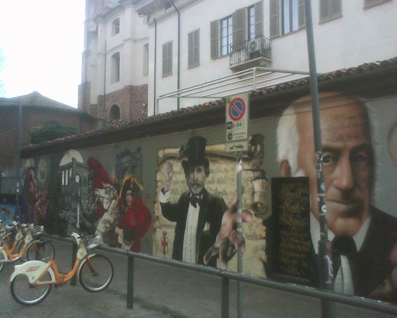 GRAFITI  IN  SAINT  CONSTANTINE  COLUMN