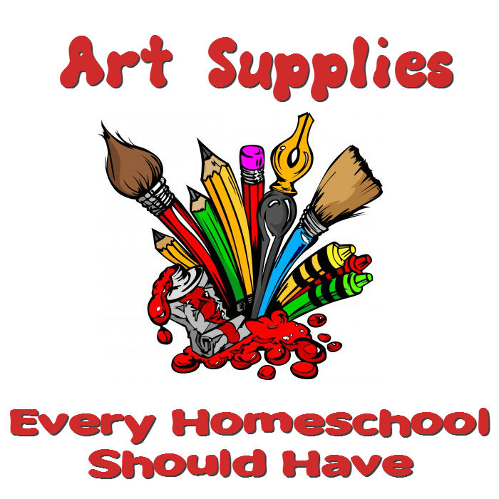 Every homeschool should encourage artistic creation. Here is a list of art supplies for young and older kids.  www.HeartofMichelle.com