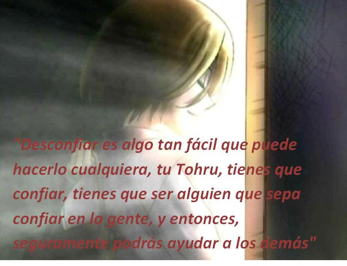 Frases con fotos del anime. Kyoko