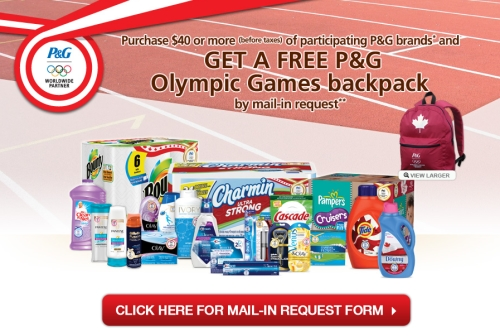 Canadian Daily Deals: P&G Mail-In Rebate: Free Olympic Backpack When ...