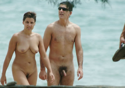 Beach male and female nudes