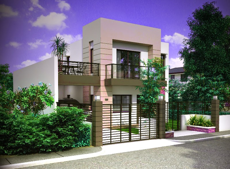 model rumah mewah minimalis 2 lantai pinoy eplans
