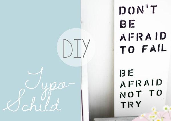 DIY Typo Schild als Wohnzimmerdeko