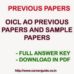Download OICL AO Previous Years Solved Question Papers with Answer Key