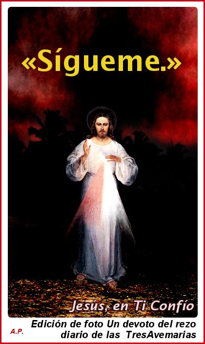 jesus misericordioso diciendote sigueme