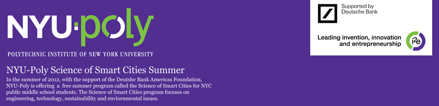 NYU:Poly Science of Smart Cities Summer Experience