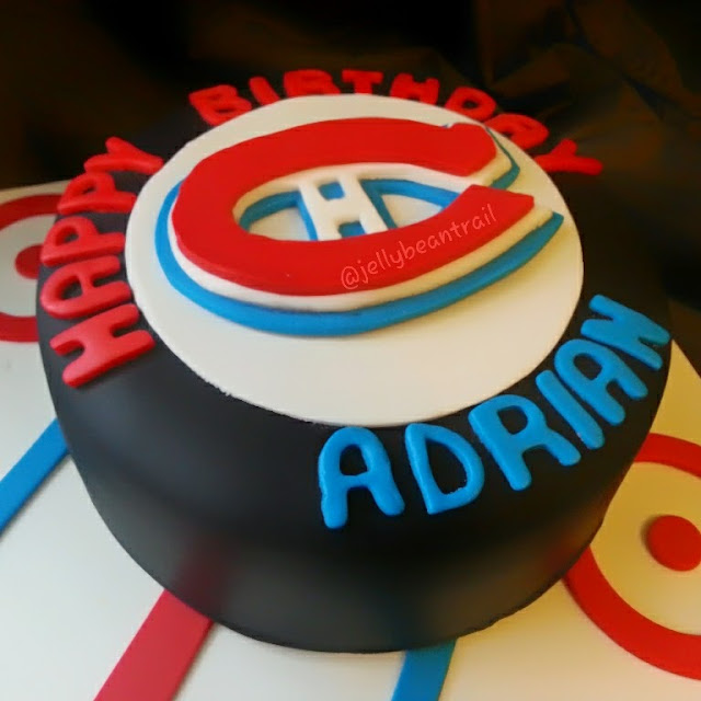 Montreal Canadiens Habs hockey puck cake jellybeantrail dawn garnette