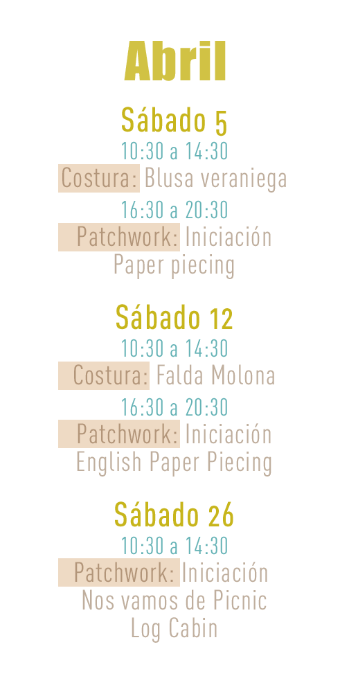 Monograficos Abril y Mayo en Trapo y Tela