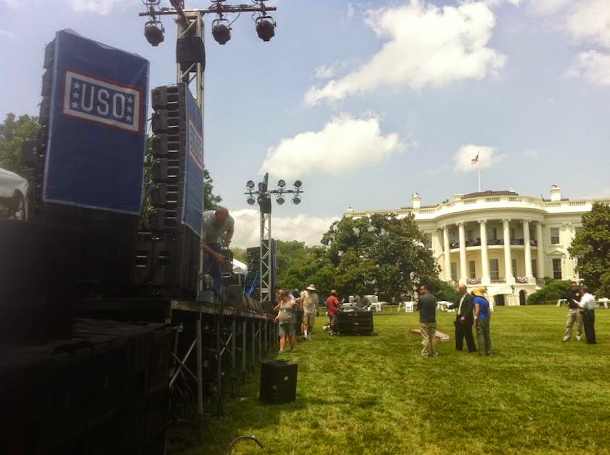 JBL VTX and Crown amps at the White House