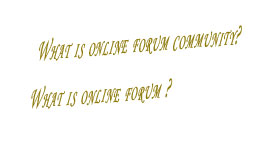 online forum