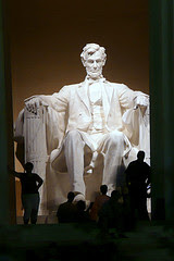 Lincoln Memorial at night by rjv541 via Flickr and a Creative Commons license