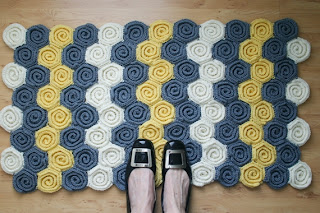 Let's Twirl Blanket and Rug Crochet Pattern by Susan Carlson of Felted Button